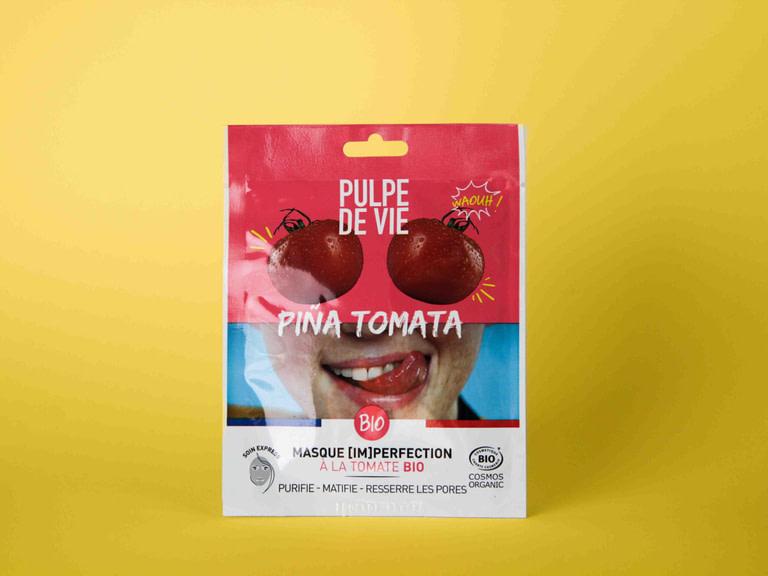Pulpe De Vie Piña Tomata Kangasnaamio tomaatti puhdistava sheet mask naamio